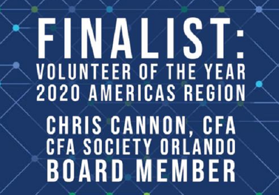 Chris Cannon, CFA, CIO at FirsTrust, Selected as a Finalist for CFA Institute's 2020 Volunteer of the Year Awards